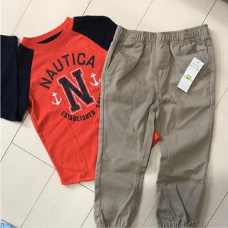 新品未使用ノーティカ 長袖Tシャツ長ズボンセット 4T 110cm
