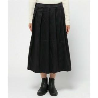 ロデオクラウンズワイドボウル(RODEO CROWNS WIDE BOWL)のRCWB ピンストライプ プリーツ スカート ロングスカート(ロングスカート)