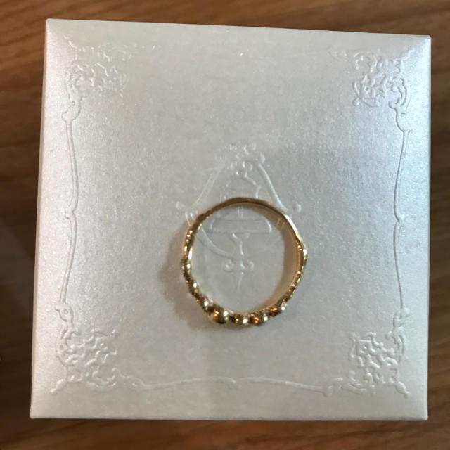 指輪 7号 ゴールドリング スカル レディースのアクセサリー(リング(指輪))の商品写真