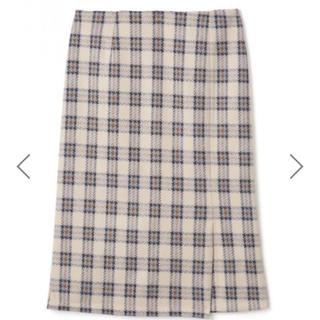 グレイル(GRL)のスリットチェックタイトスカート (ひざ丈スカート)