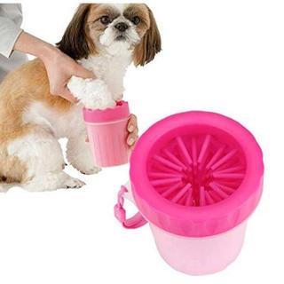 犬 足洗いカップ 痛くないシリコン製 簡単洗浄(犬)