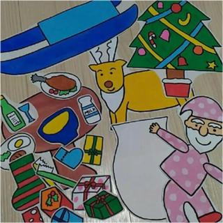 クリスマスのサンタさん パネルシアターの型紙 保育士(型紙/パターン)