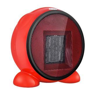 セラミックファンヒーター 500W 丸形 小型暖房器 速暖 温風(ファンヒーター)