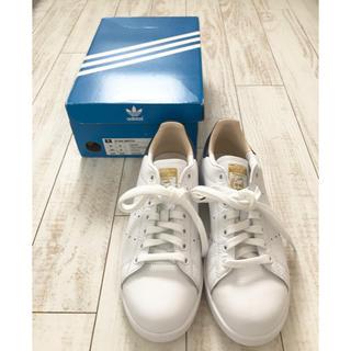 アディダス(adidas)のadidas originals スタンスミス 本革 24.5cm ネイビー(スニーカー)