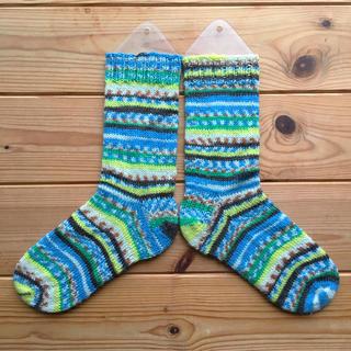 手編みの靴下12(レッグウェア)