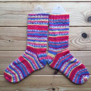 手編みの靴下15(レッグウェア)