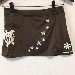☆ランナーズルート ランニング スカート ラップスカート ブラウン S☆☆☆(ウェア)