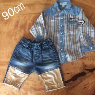 チッカチッカブーンブーン(CHICKA CHICKA BOOM BOOM)の90 トップス パンツ セット(Tシャツ/カットソー)