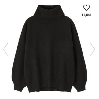 ジーユー(GU)の新品★ジーユー オーバーサイズタートルネックセーター S(ニット/セーター)