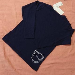 リー(Lee)の【新品未使用】LEE デニムポケット ロングTシャツ ネイビー サイズ:110(Tシャツ/カットソー)
