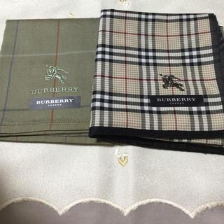 バーバリー(BURBERRY)のバーバリー紳士ハンカチ2枚セット(ハンカチ/ポケットチーフ)
