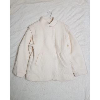【韓国ファッション】CREAMウール混紡暖かジャケット(スタジャン)
