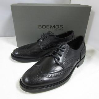 ボエモス(Boemos)の新品箱入 BOEMOS ボエモス レザー ブローグシューズ 革靴 黒 26cm(ドレス/ビジネス)