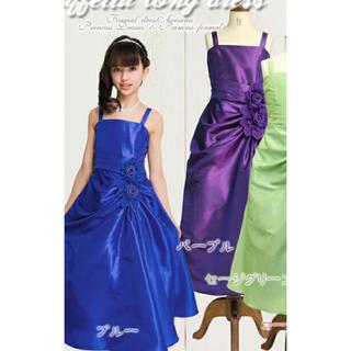 キャサリンコテージ(Catherine Cottage)の発表会ドレスパープル美品サイズ150(ドレス/フォーマル)