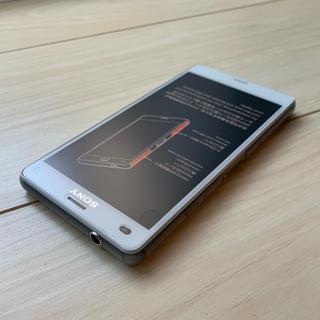 エクスペリア(Xperia)のSONY美品  SO-02G Xperia Z3 Compact ホワイト(スマートフォン本体)