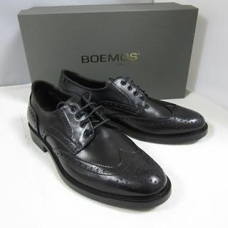 ボエモス(Boemos)の新品特価 BOEMOS ボエモス レザー ブローグシューズ 革靴 黒 28cm(ドレス/ビジネス)