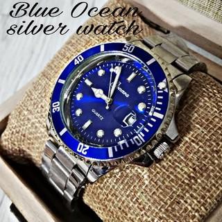 【海外限定モデル】オーシャンブルー♪ Gemeva 腕時計 メンズ ウォッチ(腕時計(アナログ))