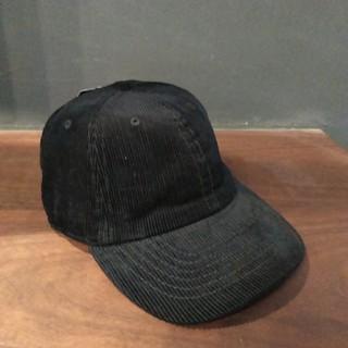 ニューハッタン6パネルキャップコーデュロイ ブラック(キャップ)