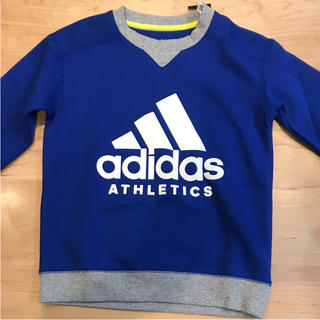 アディダス(adidas)のアディダス トレーナー 裏起毛☆新品☆130㎝(Tシャツ/カットソー)