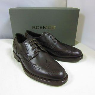 ボエモス(Boemos)の新品箱入 BOEMOS ボエモス レザー ブローグシューズ 革靴 濃茶26(ドレス/ビジネス)