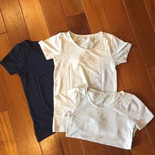 ユニクロ(UNIQLO)のUNIQLO☆エアリズム☆半袖3枚セット☆110(下着)