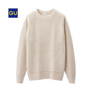ジーユー(GU)のGU ベージュニット(ニット/セーター)