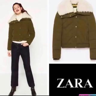 ザラ(ZARA)の【SALE】【新品】ZARA ボアネック付きショートパーカー(ダウンジャケット)