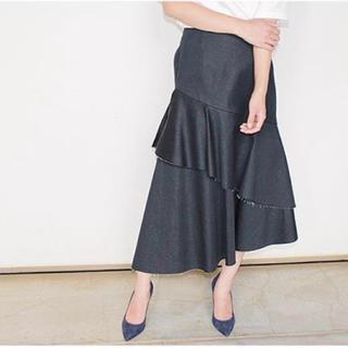 ルシェルブルー(LE CIEL BLEU)のルシェルブルー デニムスカート(ひざ丈スカート)