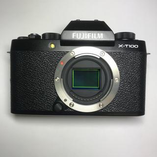 フジフイルム(富士フイルム)の【美品】富士フィルム X-T100 ブラック ボディ(ミラーレス一眼)