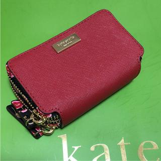 kate spade new york - 【新品 未使用】ケイトスペード ダブルジップ財布 ローズ柄