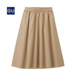 ジーユー(GU)のイージーカラーフレアスカート(ひざ丈スカート)