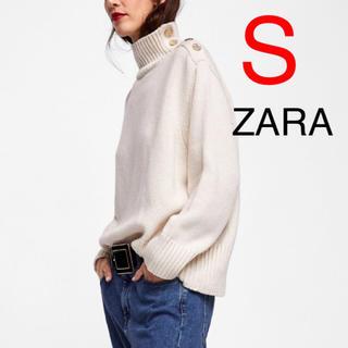 ザラ(ZARA)のZARA  ボタン付きセーター(ニット/セーター)