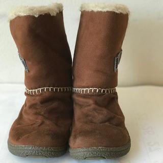 オシュコシュ(OshKosh)のoshkosh  キッズ ムートンブーツ 茶色 19cm EE(ブーツ)