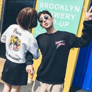 【大人気】韓国ファッション ペアルック スウェット(トレーナー/スウェット)