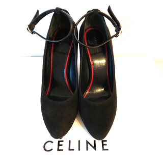 セリーヌ(celine)のCeline スエードウエッジソール パンプス(ハイヒール/パンプス)