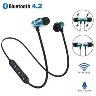 Bluetooth イヤホン ワイヤレス  ブルー(ヘッドフォン/イヤフォン)