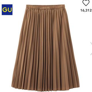 ジーユー(GU)のGU*イージープリーツスカート*ブラウン*M(ロングスカート)
