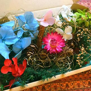 クリスマスSALE★★ハーバリウム 花材いろいろ おすそ分けセット★(プリザーブドフラワー)