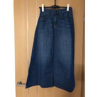 ジーユー(GU)の最終価格 GU ジーユー デニム スカート  Aライン ロングスカート (ロングスカート)