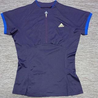 アディダス(adidas)の★美品★【アディダス】ポロシャツ/Tシャツ (M/ネイビー)(ポロシャツ)