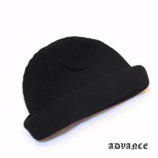 ADVANCE   くるくるビーニー BLACK(ニット帽/ビーニー)