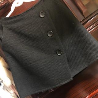 ヘザー(heather)のツイードレトロボタンスカート(ミニスカート)