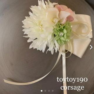 toytoy190 コサージュ 結婚式 入学式 卒業式 セレモニー(コサージュ/ブローチ)
