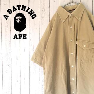 アベイシングエイプ(A BATHING APE)の【レア】A BATHING APE ワンポイントロゴ ユーディロイ シャツ754(シャツ)