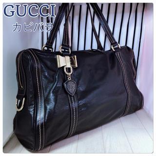 グッチ(Gucci)の【美品】GUCCI×グッチ A4収納可能オールレザー柄ショルダーバッグ(ショルダーバッグ)