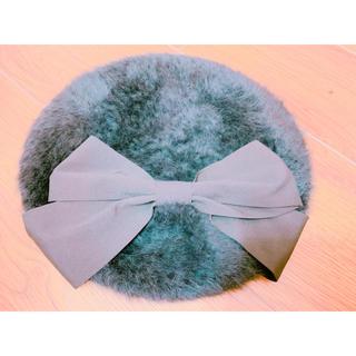 アースミュージックアンドエコロジー(earth music & ecology)のアース earth リボン ベレー帽(ハンチング/ベレー帽)