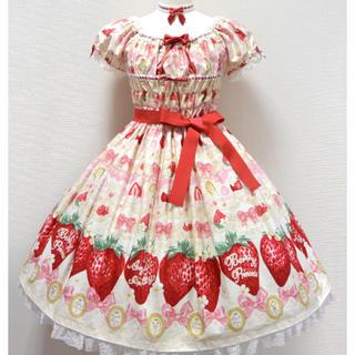 アンジェリックプリティー(Angelic Pretty)のmelty berry princess op&kc(ひざ丈ワンピース)