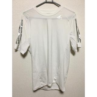 アディダス(adidas)のadidas アディダス climacool Tシャツ Lサイズ 白 半袖(Tシャツ/カットソー(半袖/袖なし))