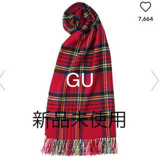 ジーユー(GU)のカシミヤタッチストール チェック GU 新品未使用(マフラー/ショール)