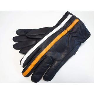 在庫処分1点限り 防寒防水装備 冬用レザーグローブ・ホワイトオレンジラインLL(装備/装具)